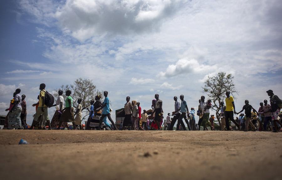 Arrivée de réfugiés sud-soudanais au camp d'Imvepi, en Ouganda. Photo : Kieran Doherty/Oxfam