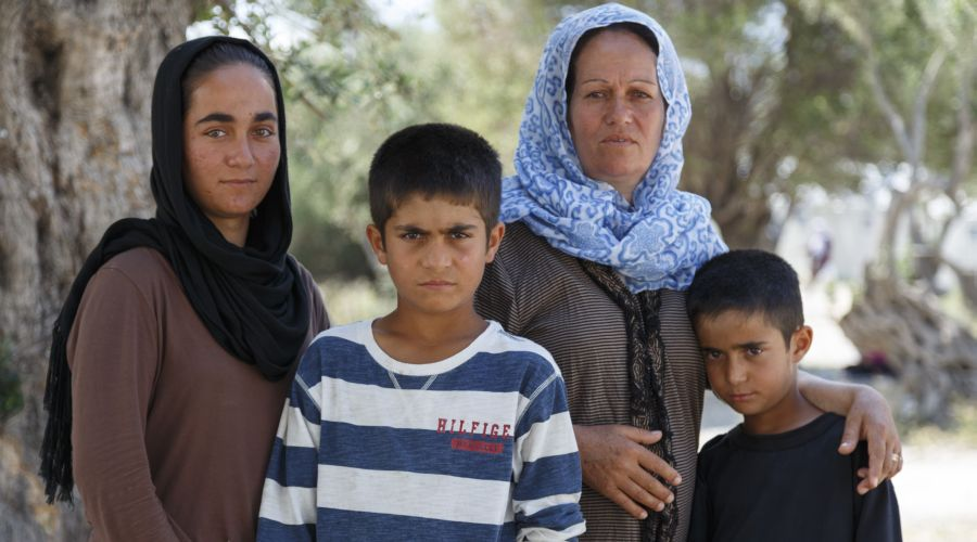 Mastura, 45, and her children had to leave their home in Afghanistan, after her family was threatened and her husband went missing.