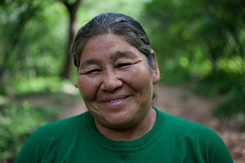 Audia Pérez, productora agroforestal y dirigenta guaraní de la comunidad de Isipotindi, Chaco Boliviano. Foto: Oxfam / Patricio Crooker