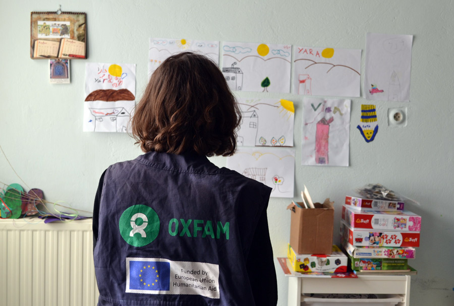 Child-friendly spaces allow refugee children to cope better with their reality. Photo: Oxfam