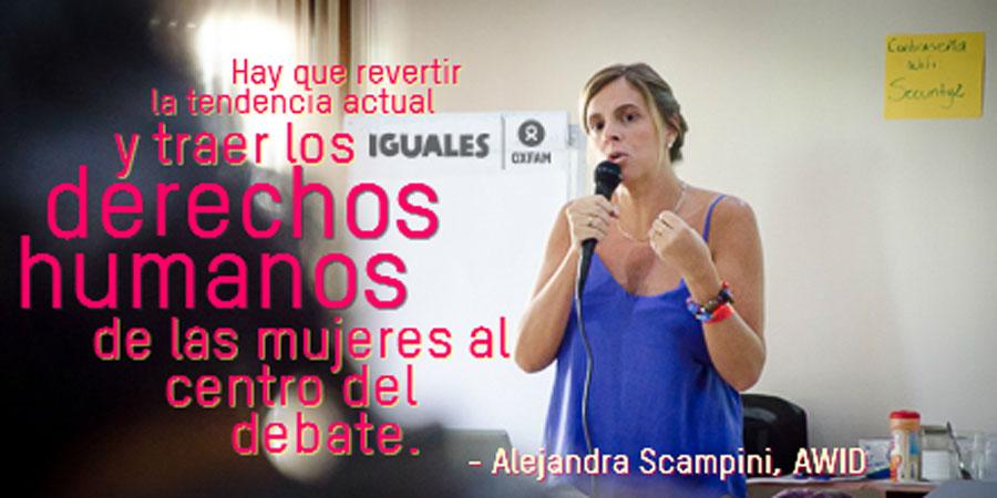 Alejandra Scampini AWID sobre los derechos de las mujeres.
