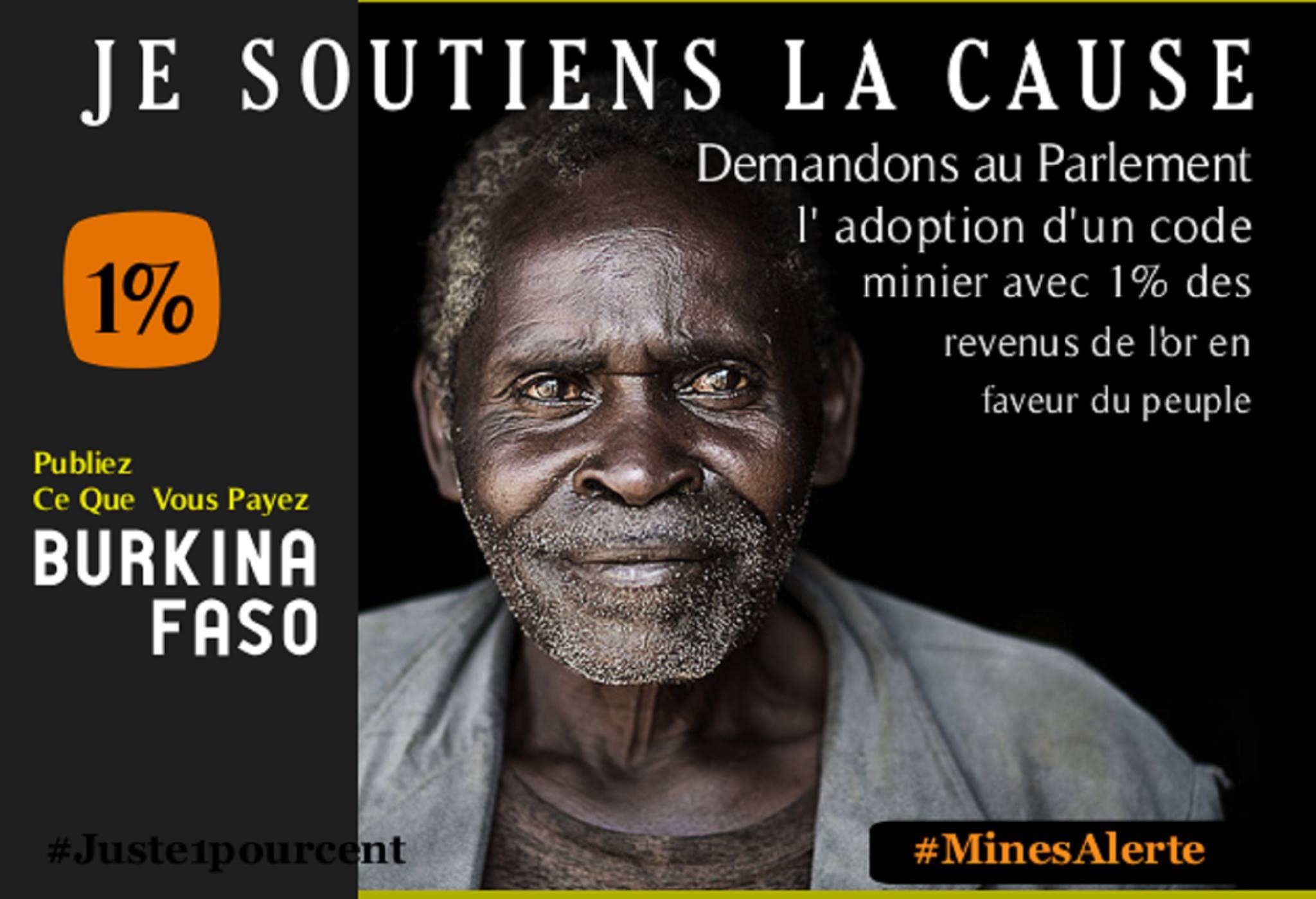 Burkina Faso. Demandons au parlement l'adoption d'un code minier avec 1% des revenus de l'or en faveur du peuple