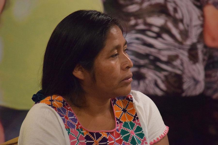 Crisanta Pérez, una de las mujeres que desde el año 2005 se ha enfrentado a violaciones de los derechos humanos en Guatemala. Foto: Oxfam