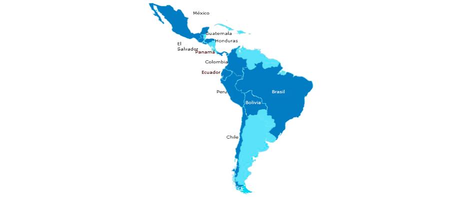 Mapa America Latina Industrias Extractivas