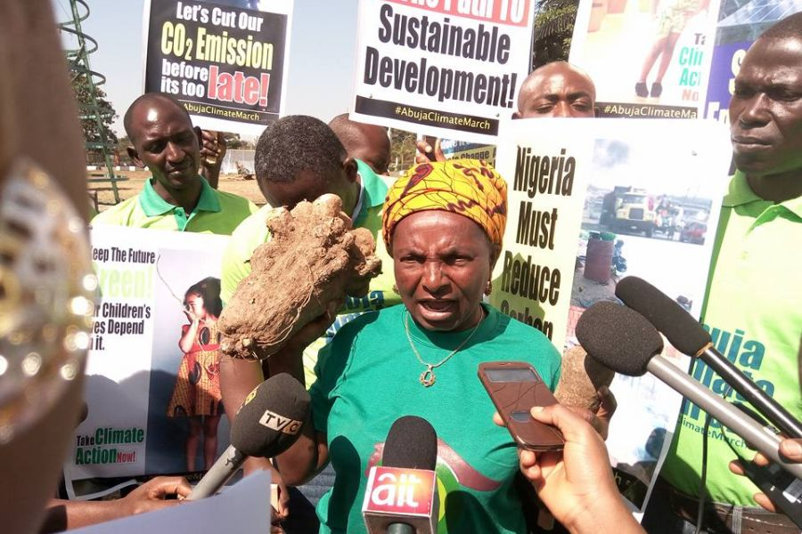"""In November 2015 Monica was part of the """"Abuja Climate march"""" which aim was to press for stringent measures by world leaders on climate change as they were meeting in Paris."""