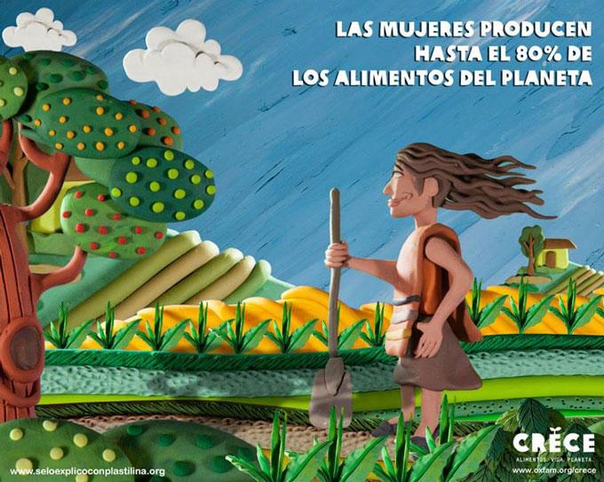 Las mujeres producen hasta el 80% de los alimentos del planeta. Esteve Toner / Oxfam