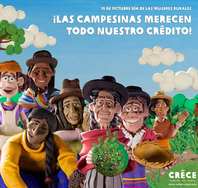 Las campesinas merecen todo nuestro crédito. Foto: Esteve Toner / Oxfam