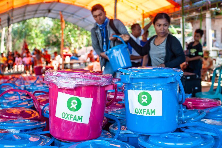 Detalle de un kit de higiene de Oxfam en Palu, Sulawesi, Indonesia. Foto: Hariandi Hafid/Oxfam