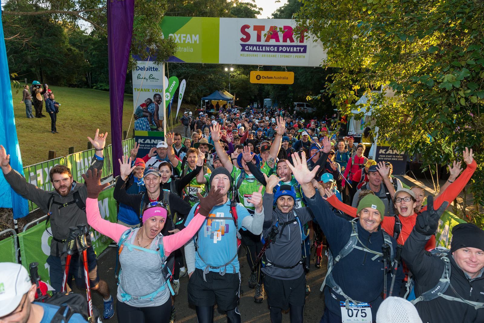Oxfam Trailwalker Brisbane 2015  At the start on Mount Glorious. Photo: Oxfam