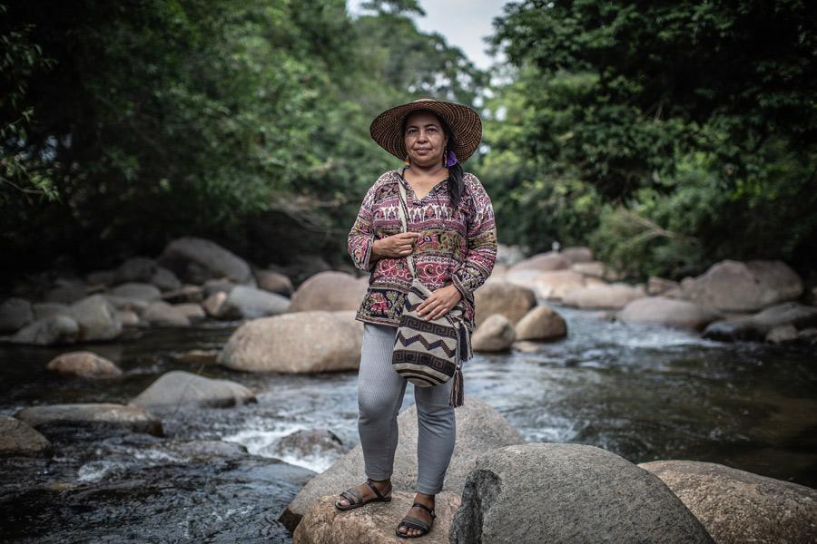 Magalí es defensora de derechos humanaos, territoriales y ambientales. Junto a otras mujeres forman parte de Plataforma social y política para La Paz y la incidencia de las mujeres del Caquetá, Colombia. Foto: Pablo Tosco/Oxfam
