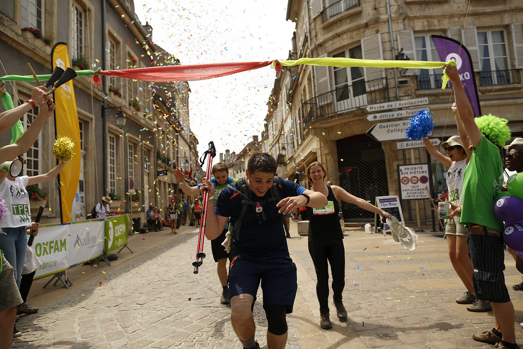 Joy at the finish, Oxfam Trailwalker France 2015. Photo credit: Laurent Carré / Oxfam