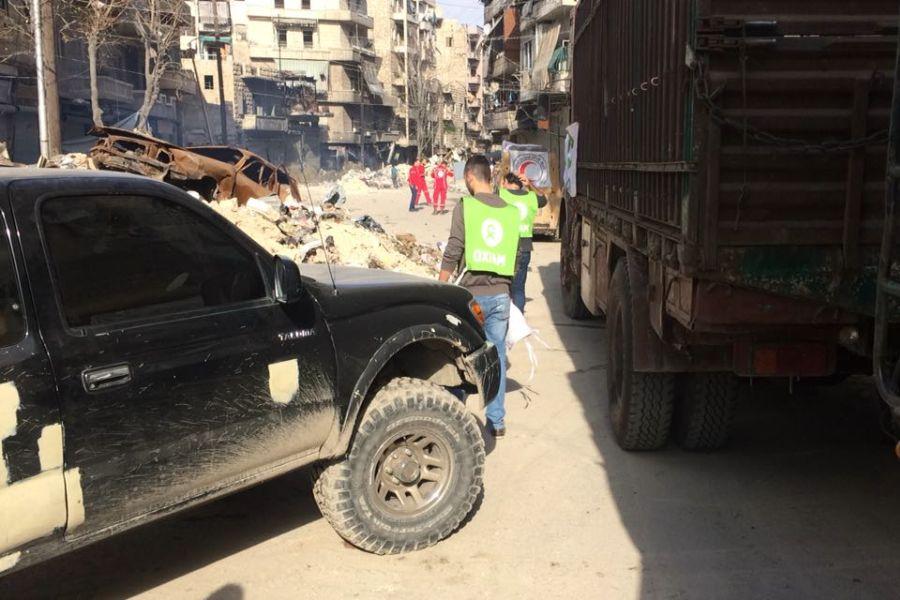 En marzo de 2016, Oxfam instaló el primer generador de la principal estación de agua de Alepo