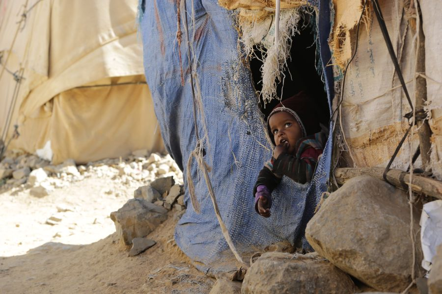 Among the 2 million of internally displaced people in Yemen, 55% are children.