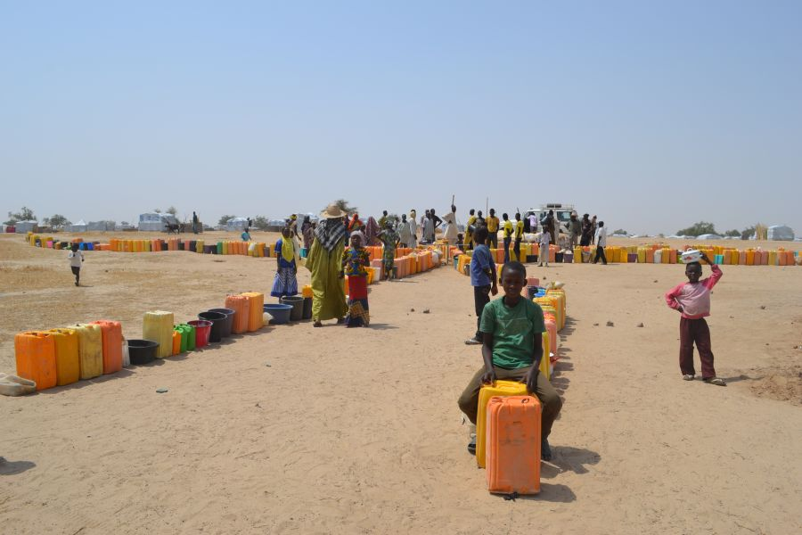 Nigerian refugees in Sayam Forage, a UN administered refugee camp in Diffa region, south-east Niger.