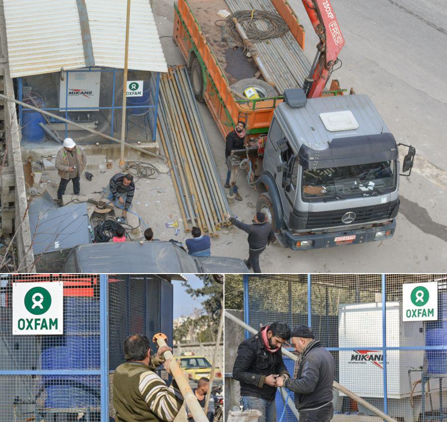 Oxfam terminó la rehabilitación de este pozo en Alepo Oriental a principios de febrero.