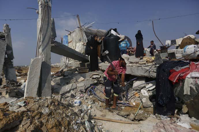 Rubble in Gaza