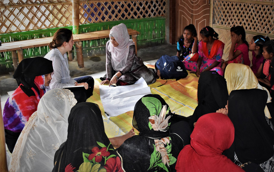 Oxfam breaking new ground with toilet design for Rohingya women and girls