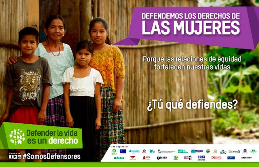 Cartel de la nueva campaña Somos Defensores recientemente presentada en Guatemala. Foto: Oxfam