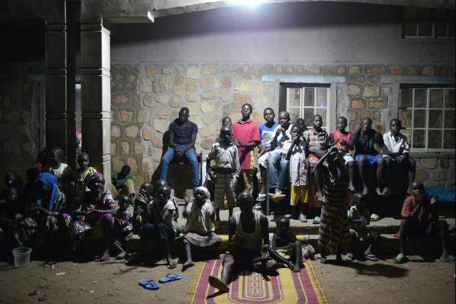 Every night a large number of internally displaced children, women and men gather for prayer time at Saint Theresa Cathedral, Yola. After their escape, IDPs find themselves in unknown areas without basic necessities or means to support their families.