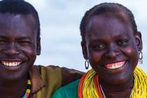 Woman and man from Uganda posing