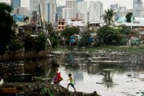 Le bidonville de Tondo, à Manille, aux Philippines, en 2014