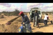 An Oxfam plumber in Dadaab, Kenya