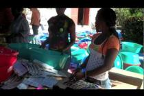 Assembling family kits in Haiti - Oxfam's cash-for-work program
