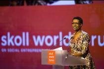 Winnie Byanyima speaking at the Skoll World Forum #SkollWF 2017