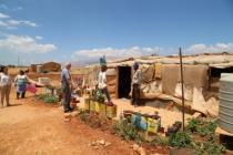 Un campement sauvage abritant des réfugiés syriens, dans la vallée de la Bekaa, au Liban.