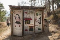 Oxfam female friendly latrines at a secondary school in Nepal