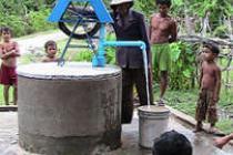 Une pompe de roue en Cambodge. Crédit: Prom Vihear Thor