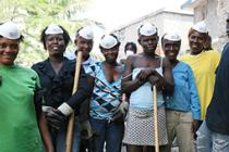 Haiti clean up team