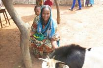 Awa Oumar, Oxfam's program beneficiary in Bria, Central African Republic.