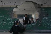 School damaged by the Israeli attacks in September 2014, in Gaza.