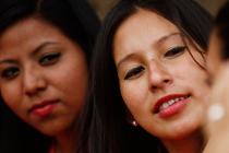 Tras participar en un proyecto de empoderamiento de mujeres y adolescentes embarazadas apoyado por Oxfam en Honduras, Delmis se ha convertido en una activista.