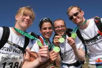 Trailwalker team showing medals 2005