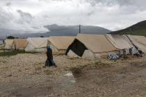Approximately 1,000 people are staying at Katsikas camp in the Epirus Region of Northwest Greece. Conditions are poor, with refugees living in army tents and exposed to the weather. Photo credit: Aubrey Wade/Oxfam
