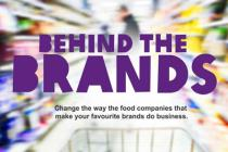 Behind the Brands logo - change the way food companies that make your favourite brands do business
