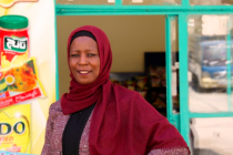 Ne'ama (32) from Russaife, Jordan, received a small business grant from CARE to scale up her grocery store. Photo: Aisha Shtiwi/Oxfam