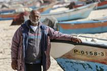 Khalil Al-Najjar, a fisherman at Khanyounis anchorage, Southern Gaza. Photo: Hussam Salem/Oxfam