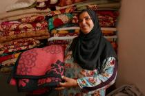 Nidhal, from Musahak village in Salah al-Din governorate, was forced to leave her home in October 2015 to escape life under ISIS. Photo: Charlotte Sawyer/Oxfam