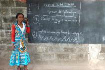 Judith teaches at a school in Equateur province, Democratic Republic of the Congo. The school director died of the Ebola virus and Judith was quarantined for 21 days as a precaution. Photo: Alain Nking/Oxfam.