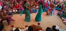 Nepal dancing women