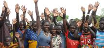 Women promise to take care of their saplings, Karamoja, North Eastern Uganda Photo credit: Caroline Gluck/Oxfam