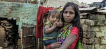 Chhatiya was forced into debt to pay private healthcare fees for her new-born son when the public clinic was unable to provide the care he needed. 60 million Indian are pushed into poverty because of healthcare every year. Photo: Atul Loke, Panos/Oxfam