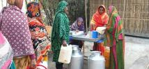 Sakina and her husband attended training and learning sessions about unpaid care work.