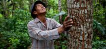 Manuel es productor agroforestal y productor de cacao. Gestiona una parcela de 3 hectáreas con más de 56 especies distintas. Riberalta, Beni. Foto: Oxfam / Patricio Crooker