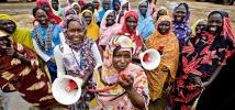 Voluntary members of an Oxfam water and sanitation committee, South Sudan. Photo: John Ferguson/Oxfam