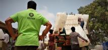 As the heavy rains of the monsoon season have reached the Rohingya refugee camps in Bangladesh, Oxfam is working hard to provide emergency aid and help families prepare for a disaster. Credit: Maruf Hasan/Oxfam
