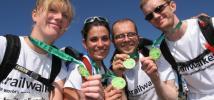 Trailwalker team showing medals 2005